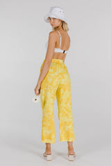 FLOWER POWER ORGANIC COTTON TIE DYE PANT - LEMON