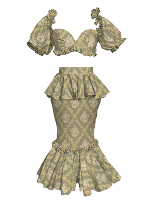 Uptown Abbey Mermaid Skirt Sage Green, Limited Quantity for Pre-order