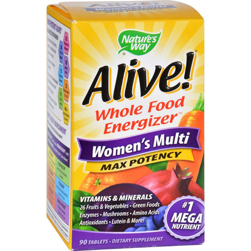 Nature's Way - Alive! Max3 Women's Multi-Vitamin - Max Potency - 90 Tablets