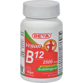 Deva Vegan Vitamins - Sublingual B-12 2500mcg - 90 Tablets
