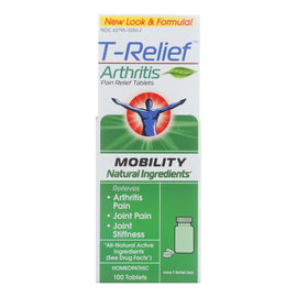 T-Relief - Zeel - Arthritic Pain - Osteoarthritis - Joint Stiffness - 100 Tablets