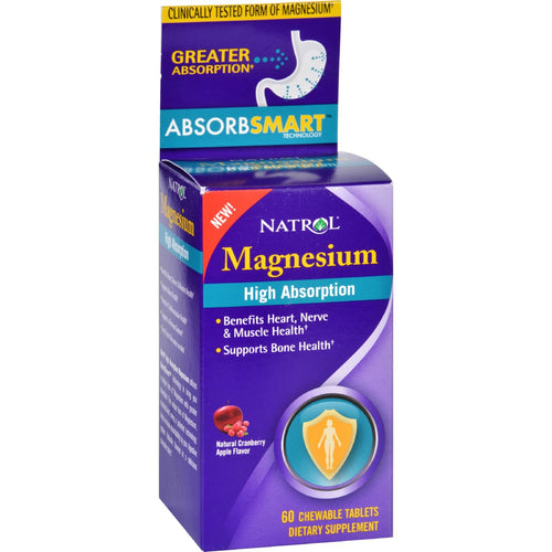 Natrol Magnesium - High Absorption - 60 Tablets
