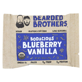 Bearded Brothers - Energy Bar - Bodacious Blueberry Vanilla - Case of 12 - 1.52 oz.