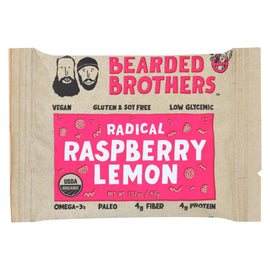 Bearded Brothers - Energy Bar - Radical Raspberry Lemon - Case of 12 - 1.52 oz.
