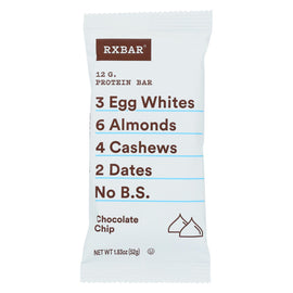 RxBar - Protein Bar - Chocolate Chip - Case of 12 - 1.83 oz.