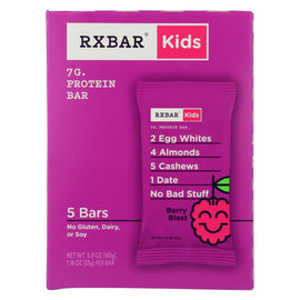 Rxbar - Kids Protein Bar - Berry Blast - Case of 6 - 5/1.16 oz.