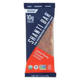Shanti Bar - Superfood Protein Bar - Salty Nutty Caramel - Case of 12 - 1.7 oz.