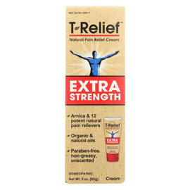 T-Relief - Natural Pain Relief Cream - Extra Strength - 3 oz.