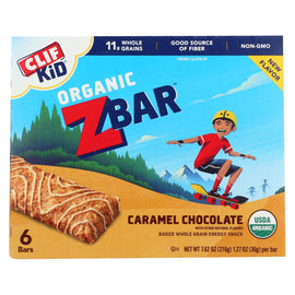Clif Kid ZBar - Organic ZBar - Caramel Chocolate - Case of 9 - 7.62 oz.
