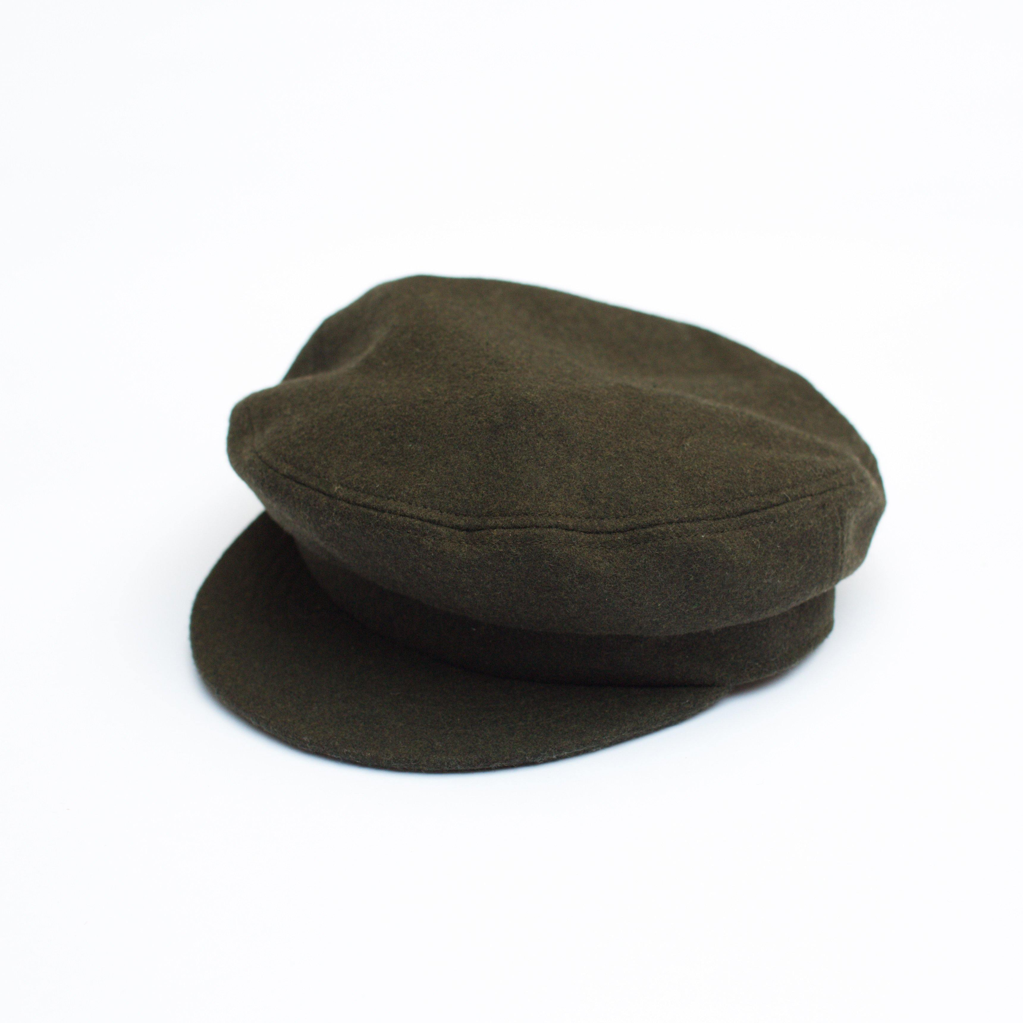 Anchor Cap - Dark Olive Wool - COSUBE