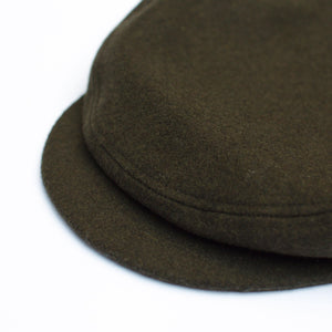 Anchor Cap - Dark Olive Wool