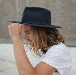 Load image into Gallery viewer, Dylan Fedora - Navy