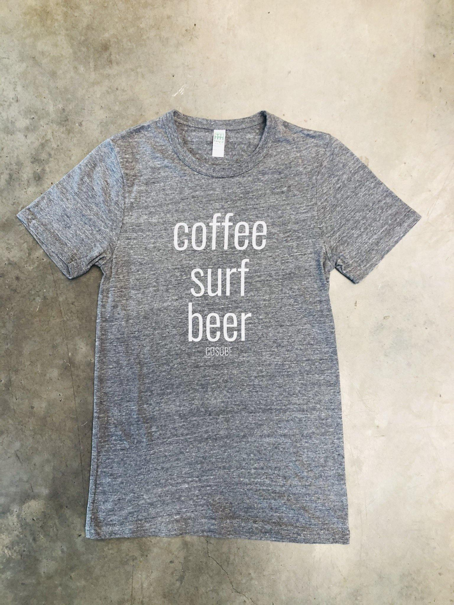 COFFEE, SURF, BEER