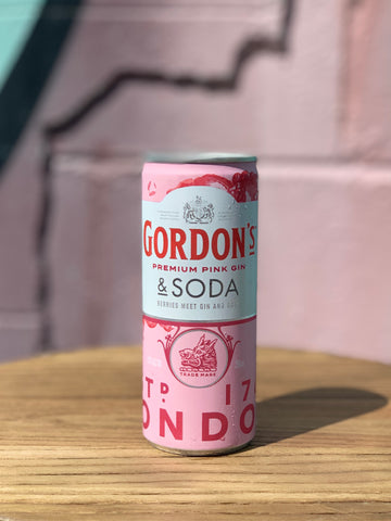 Gordon's Pink Gin & Soda - 4 Pack/Carton