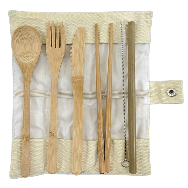 Bamboo Travel Utensils Kit