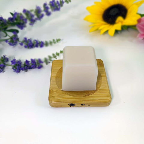 Small Square Bamboo Soap Dish