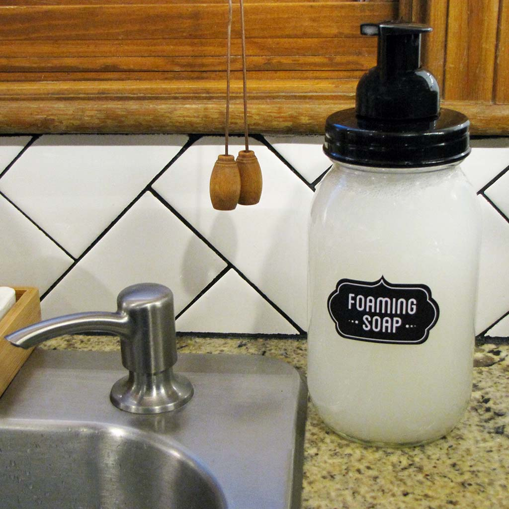 Foaming hand soap refills for zero-waste cleaning