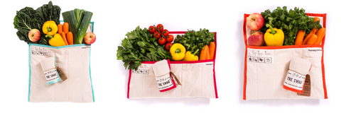 Swag Bag Keeps Your Veggies, Fruits, Mushrooms, and Herbs Fresh Longer