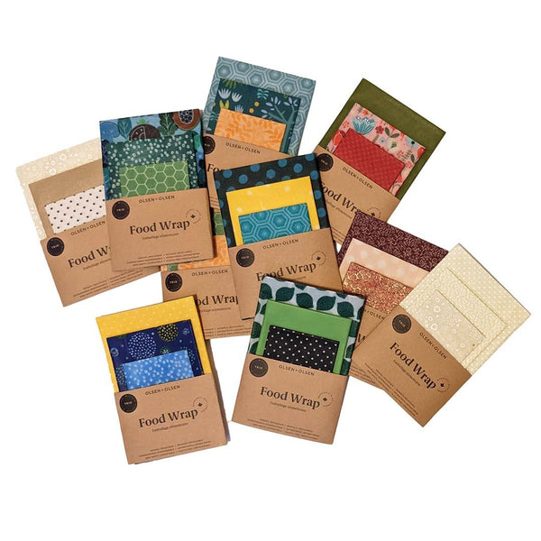 Beeswax Food Wraps 3-Pack Mixed Colors - Zero Waste Outlet