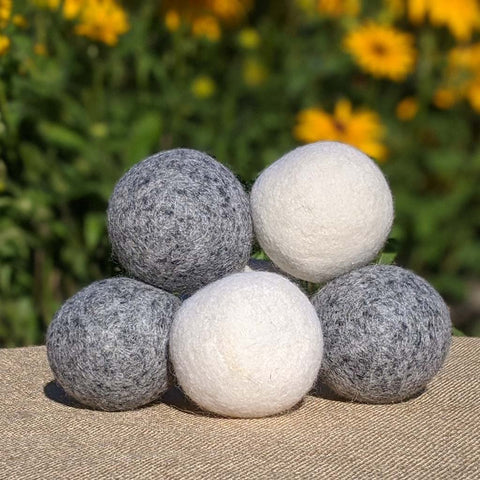 Organic Dryer Balls 3 Pack - 100% Natural Wool - Zero Waste Outlet