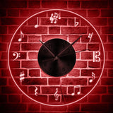 Horloge LED<br> Notes De Musique