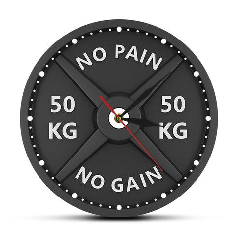 horloge murale design no pain no gain
