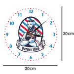 horloge murale design barbier dimension