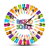 horloge murale design back to school