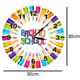 horloge murale design back to school dimension