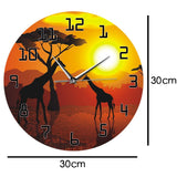 horloge murale design girafe dimension