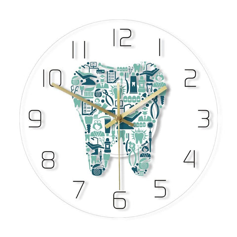 horloge murale LED dentiste