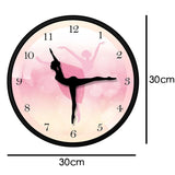 horloge murale design ballerines roses dimension