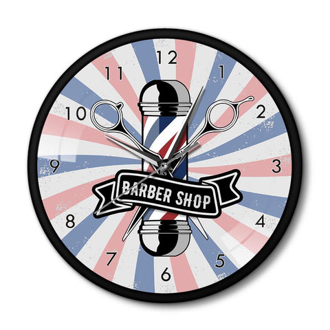 horloge murale design barber shop