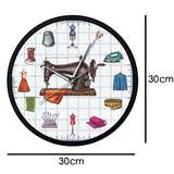 horloge murale design couture dimension