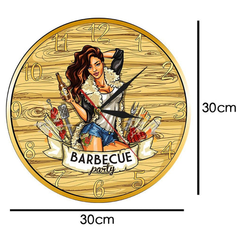 horloge murale design barbecue dimension