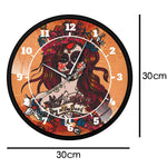 horloge murale design jour des morts dimension