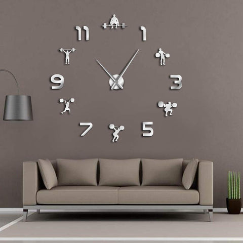 horloge murale génate DIY musculation