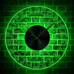 horloge murale LED viking