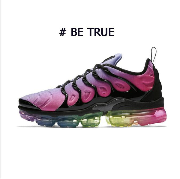 New Plus Bumblebee Women Mens Running Shoes Designer BE TRUE Black Volt Triple Black White Cool Grey Psychic Pink For Men Sneakers Trainers