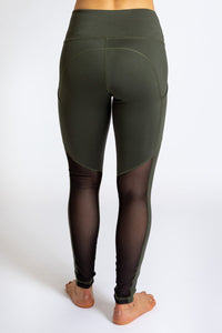INNER FIRE - Pocket Legging Forrest Green