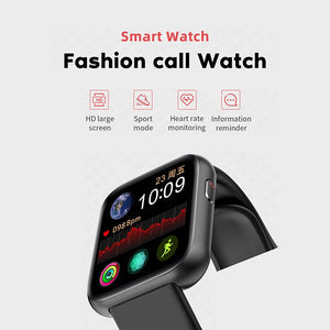 Smart Watch X2 (44mm, Bluetooth), Watches for Men Women Fitness Tracker Heart Rate Monitor IP68 Waterproof, Smartwatch Compatible with iPhone Samsung Android Phones