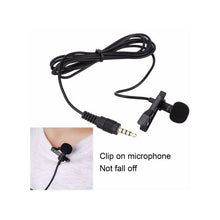 Charger l'image dans la galerie, OR Mini Lavalier Mic Tie Clip Microphones Smart Phone Recording Speaking Singing-Black