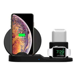 3 in 1 Chargeur Sans Fil Pour iphone / Samsung /  série 1 2 3 4, i/ Airpods phone8 X XS Max XR 10 W