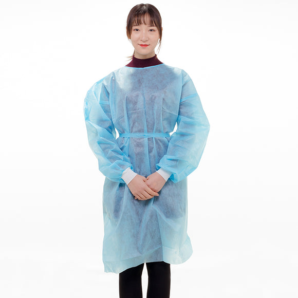 Isolation Gown, Knee-Length, 25gram, Protection Level 1, 10pcs/bag, 991539