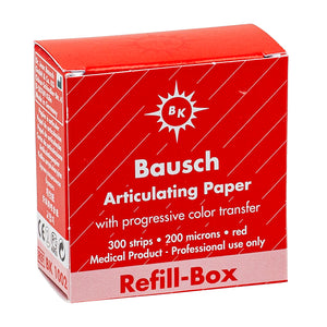 "Bausch Articulating Paper 200u(0.008"") Red Refillbox BK-1002 300pcsm, 993094"