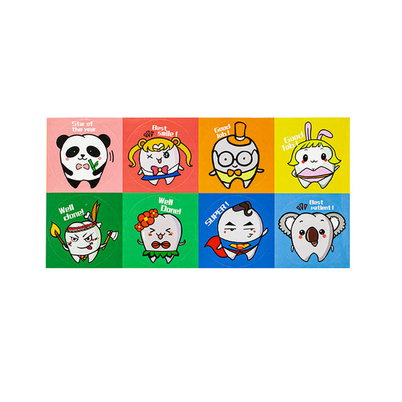 Cosplay Stickers for Children, 8pcs x 10 sheets