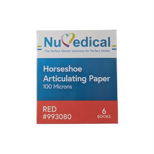 Articulating Paper, Horseshoe (100 Microns , Red), 993080