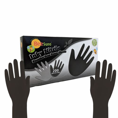 Beesure Black Nitrile Exam Gloves 200PCS/Box