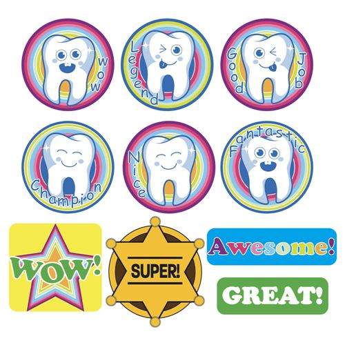 Stickers for Children, 10 pcs x 10 sheets