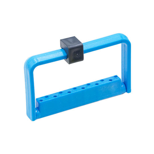 Bur Holder Tall - 12 Holes, Blue